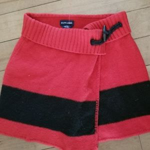 Ralph Lauren Lambswool  wrap skirt with toggle